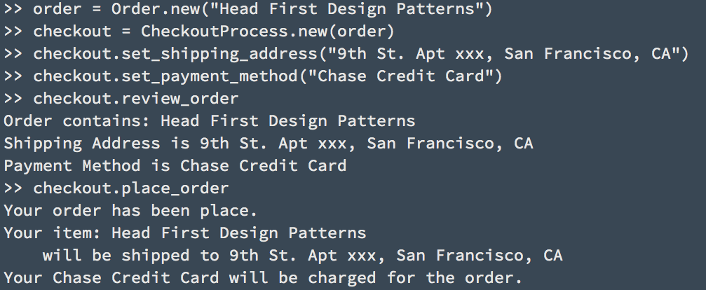 Design Pattern: Facade and 1-Click Ordering - Sihui Huang